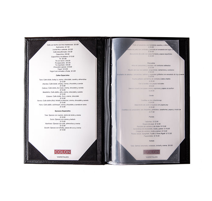 Best Menu Covers with PVC Sleeves