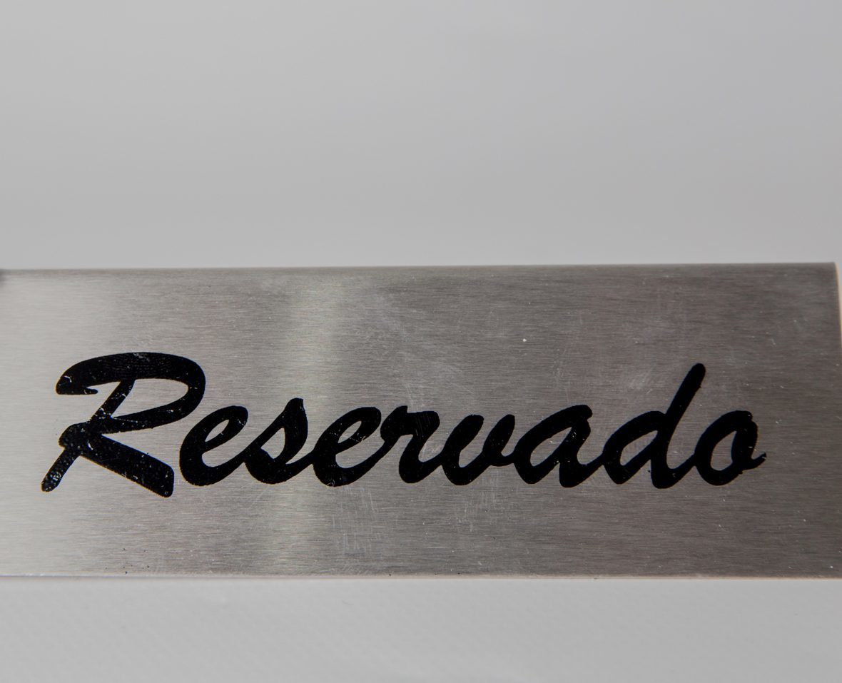 Stainless Steel Reserved Display