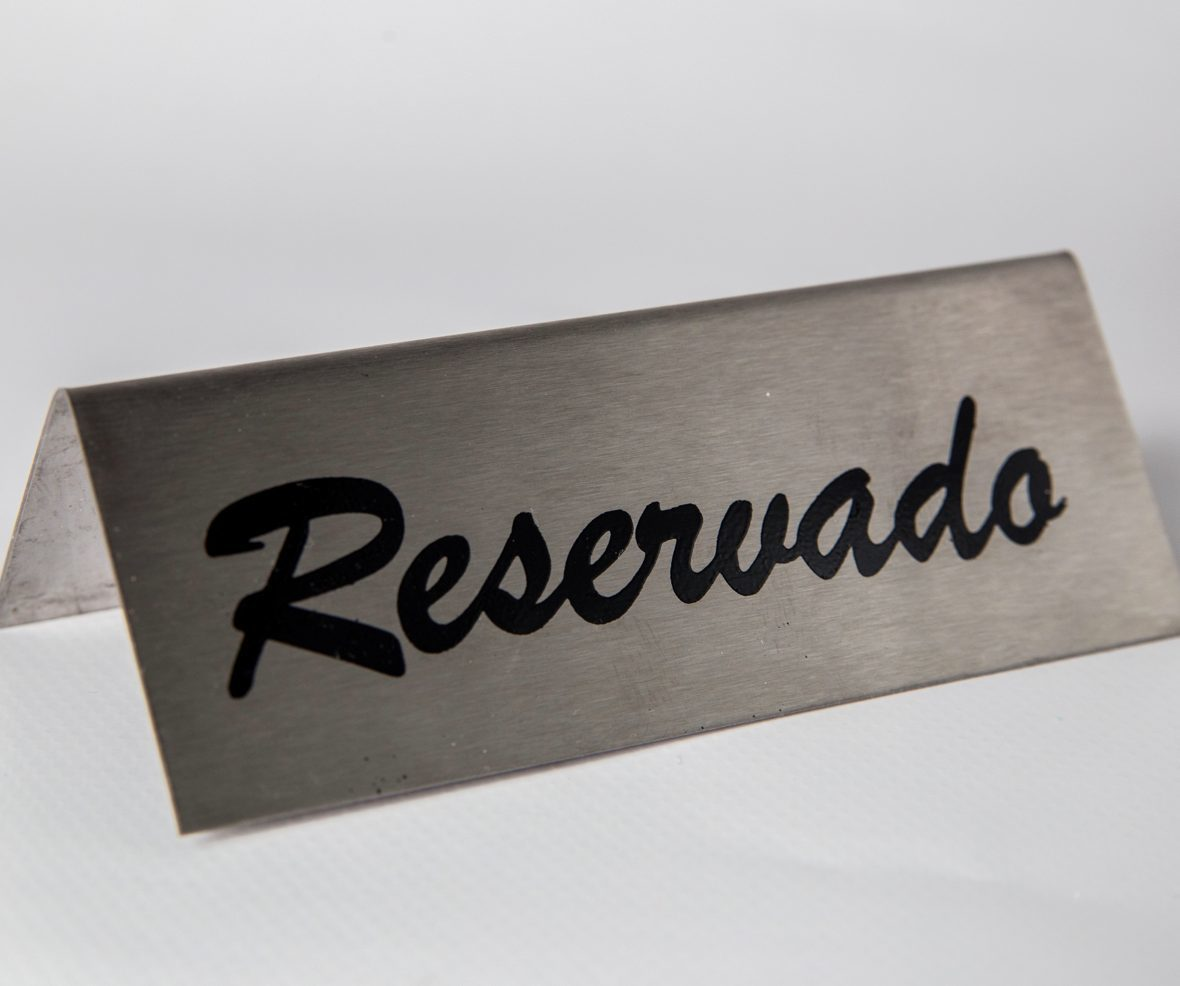 Reserved Display in Stainless Steel