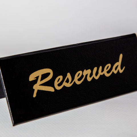 Reserved Sign Holder - Black & Gold
