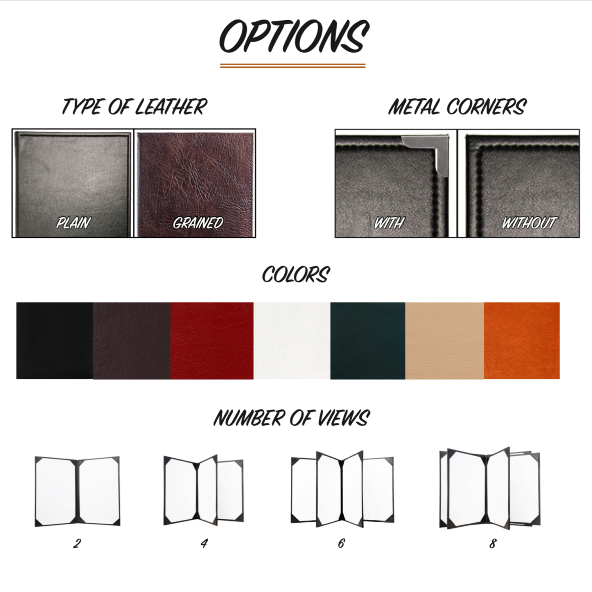 Menu Cover Customization Options