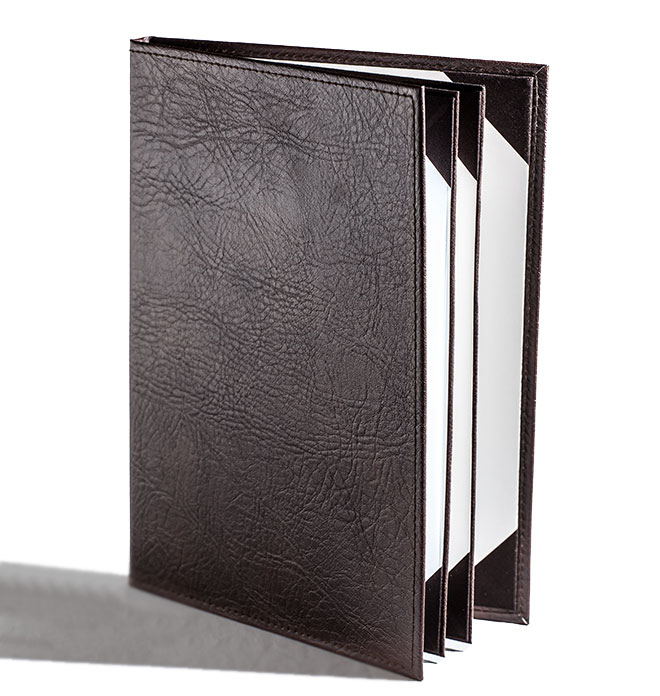 Premium Leather Menu Cover