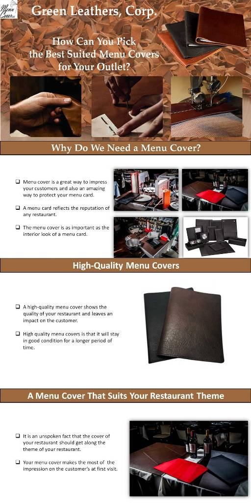 How Can You Pick the Best Suited Menu Covers for Your Outlet?