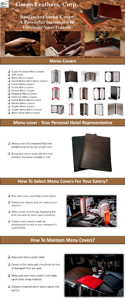 Restaurant Menu Cover-A Powerful Statement to Welcome Your Guests